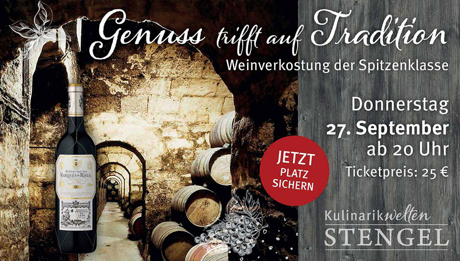 Weintasting im September 2018 im Edeka Center Stengel