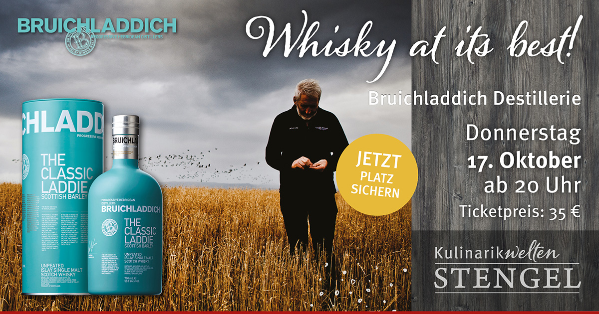 Whiskytasting am 17. Oktober in den Kulinarikwelten Stengel in Fürth