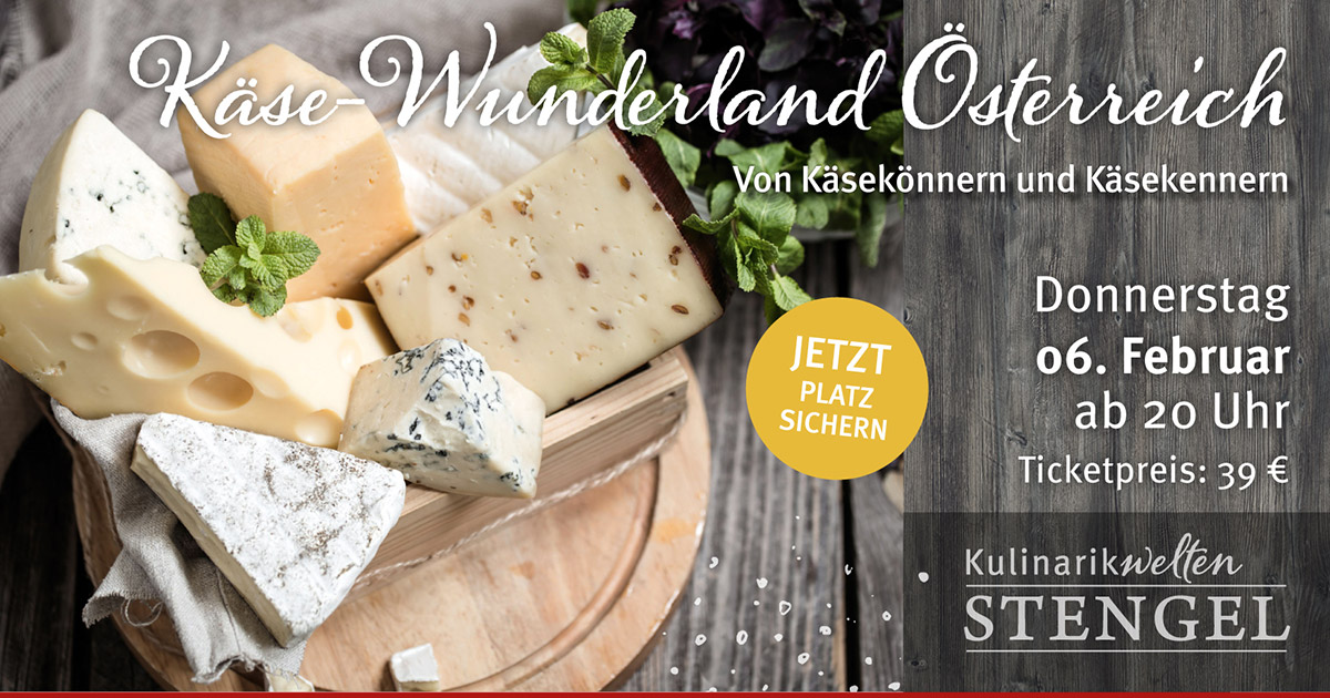 Käsetasting am 6. Februar 2020 in den Kulinarikwelten E-Center Stengel