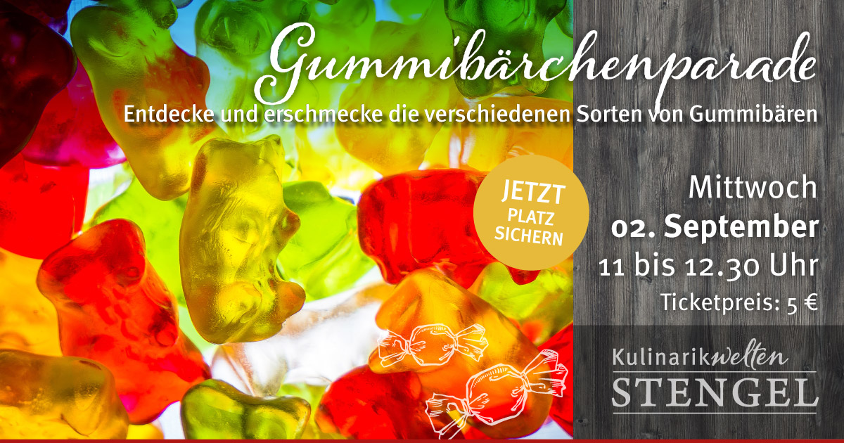 Gummibärchenparade am 2. September 2020 in den Kulinarikwelten Stengel in Fürth